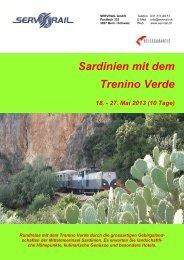 Sardinien mit dem Trenino Verde 18. - 27. Mai 2013 (10 ... - SERVRail