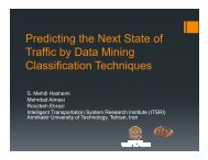 Prediction of Traffics Next State by Classification ... - (ITS) Canada