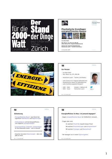 ENERGIE- EFFIZIENZ - Stadt Zürich