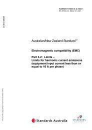 Australian/New Zealand Standard - SAI Global