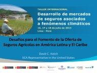 Desafíos para el Fomento de la Oferta de Seguros Agrícolas en ...