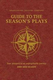 SEASON'S PLAYS - The Shakespeare Theatre Company