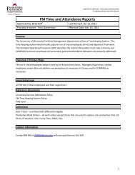 FM Time and Attendance Reports (PDF) - Facilities Management