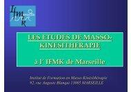 LES ETUDES DE MASSO-KINESITHERAPIE - Timone.univ-mrs.fr