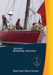2012-2013 Membership - Royal Yacht Club of Victoria - Yachting ...
