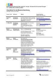 Checkliste für die Messevorbereitung - Messe Frankfurt
