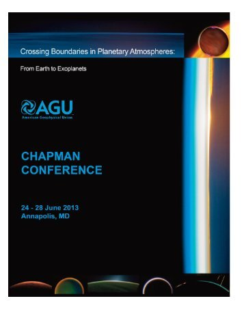 Final Program - AGU Chapman Conferences