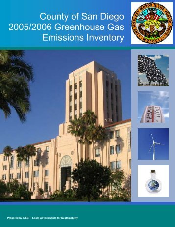 County of San Diego 2005/2006 Greenhouse Gas Emissions Inventory
