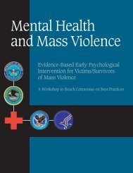 Mental Health and Mass Violence - The Center for Disaster and ...