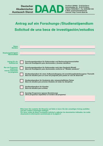 Formulario de solicitud - DAAD