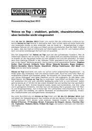 Pressemitteilung Juni 2013_deutsch19. 06. 2013 ... - Voices on Top