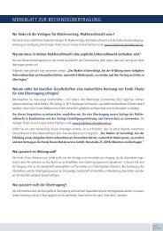 Merkblatt zur bestandsübertragung - Fonds Finanz Maklerservice ...