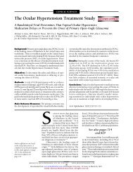 The Ocular Hypertension Treatment Study - Vision Research ...