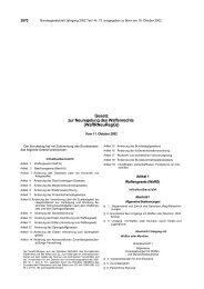 Gesetz zur Neuregelung des Waffenrechts - Allgemeine ...