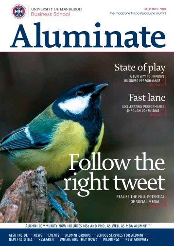 Aluminate - October 2010 - University of Edinburgh Business School