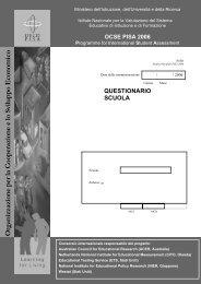 Questionario scuola - Invalsi