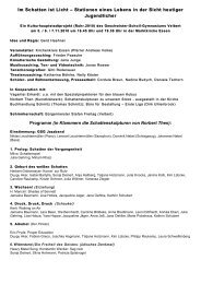 Einleger zum Programmheft mit den Titeln und Mitwirkenden