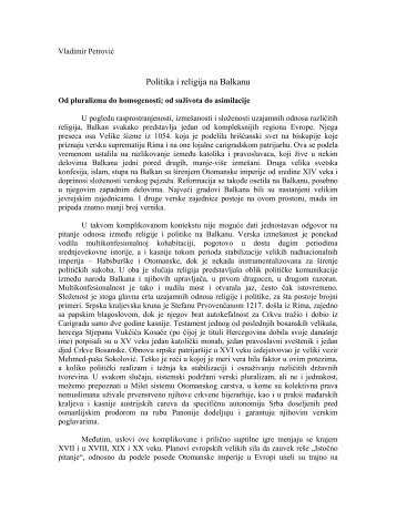 Politika i religija na Balkanu