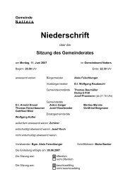 Protokoll vom 11.6.2007 (91 KB) - .PDF - Natters