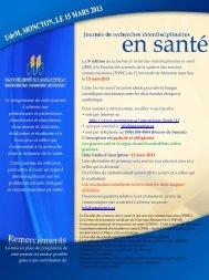 Lire la suite. - Fondation de la recherche en santé du Nouveau ...