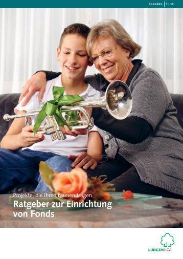 Ratgeber zur Einrichtung von Fonds - Lungenliga