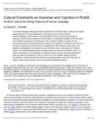 Cultural Constraints on Grammar and Cognition in ... - SIL International