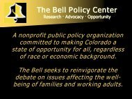 The 2004 Opportunity Lost report (PDF format) - The Bell Policy Center
