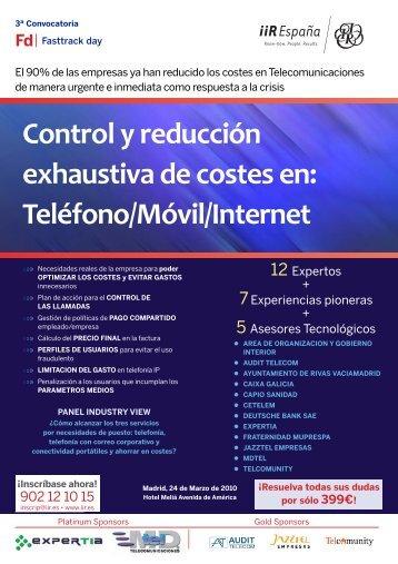 Control y reducción exhaustiva de costes: Teléfono/Móvil/Internet - ATI