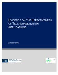 Evidence of effectiveness of telerehabilitation applications