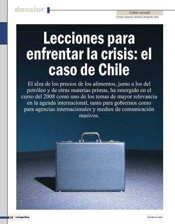 Lecciones para enfrentar la crisis: el caso de Chile - Revista ...