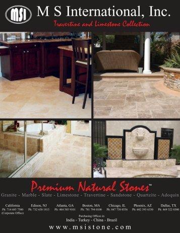 Premium Natural Stones M S International, Inc.