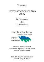 Prozessrechentechnik - Fachhochschule Oldenburg/Ostfriesland ...
