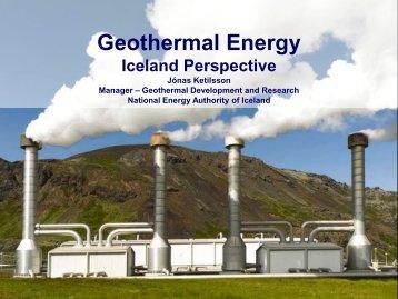 Geothermal Energy – Icelandic Perspective - EGEC