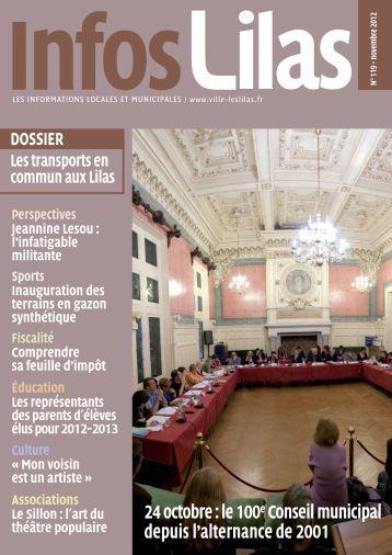 24 octobre : le 100e Conseil municipal depuis l ... - Les Lilas
