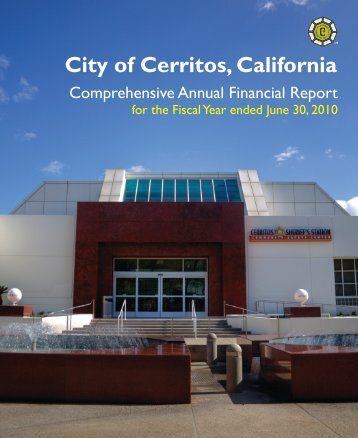 Comprehensive Annual Financial Report - City of Cerritos