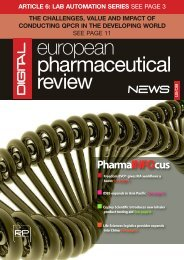 PharmaINFOcus - European Pharmaceutical Review