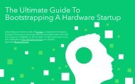 The Ultimate Guide To Bootstrapping A Hardware Startup