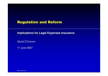 Regulation and Reform - International Association of Legal ...