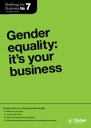 Gender equality: it's your business - Oxfam International