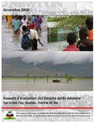 Rapport d'Évaluation des Besoins Après Désastres - PreventionWeb