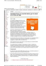 Sanidade firma un acuerdo básico por la salud en el área de ... - Duvi