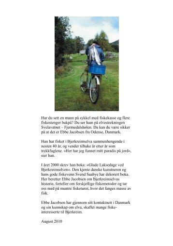 Har du sett en mann på sykkel med fiskekasse og ... - Bjerkreim.info