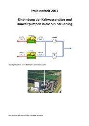 Projektarbeit 2011 Einbindung der Kaltwassersätze und ...