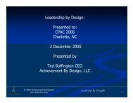 Leadership by Design: Presented to: CPAC 2006 Charlotte, NC 2 ...