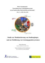 Studie zur Modularisierung von Studiengängen und zur Einführung ...