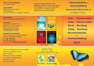 Coachflyer 2013 zum Download - Pierre Franckh
