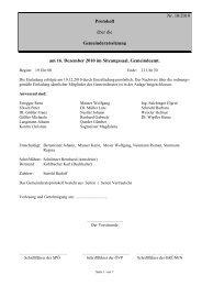 Protokoll zur Sitzung am 16.12.2010 - Ligist