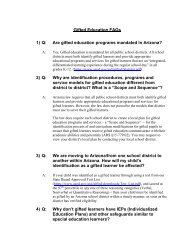 Gifted Education FAQs 1) Q - Arizona Department of Education
