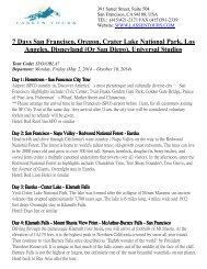 (Or San Diego), Universal Studios - Lassen Tours