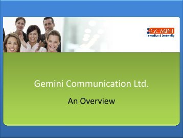 CORPORATE Presentation - Gemini Communication Ltd